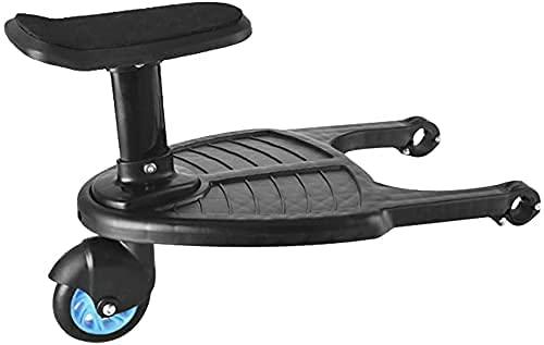 Buggy-Board mit Sitz, ETE ETMATE abnehmbares Zweit-Kindersitz, kompatibel mit Kinderwagen mit horizontaler Achse und kompakten Kinderwagen (2–6 Jahre, 25 kg)