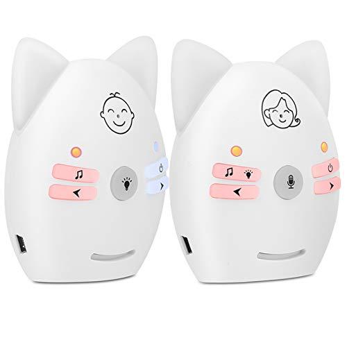 Audio Babyphone Digtal Wireless Zweiwege-Babyphone mit Nachtlicht(Europäische Stromversorgung)