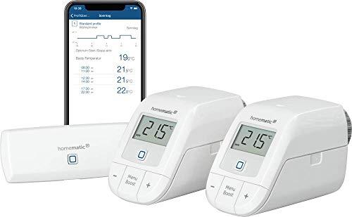 Homematic IP Smart Home Starter Set Heizen – WLAN, intelligente Heizungssteuerung per App und Amazon Alexa, 155703A0