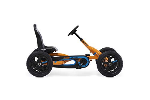 Berg Pedal Gokart Buddy B-Orange | Kinderfahrzeug, Tretauto mit Optimale Sicherheid, Luftreifen und Freilauf, Kinderspielzeug geeignet für Kinder im Alter von 3-8 Jahren