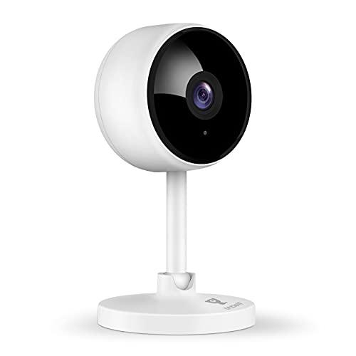 [2021 Neu] Überwachungskamera innen, Littlelf 1080P Baby Kamera, Wlan IP Kamera mit 2-Wege Audio Babyphone Monitor, Bewegungserkennung, Alexa Kamera für Haustier mit Nachtsicht