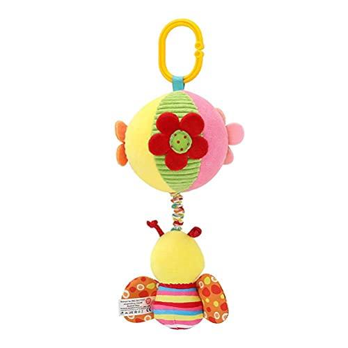 passer Baby-Spielzeug, Kinderwagen, Autositz, Kinderbett, Spielzeug, weiches Plüsch-Spielzeug, tragbar, mit Glocke, Stoffball