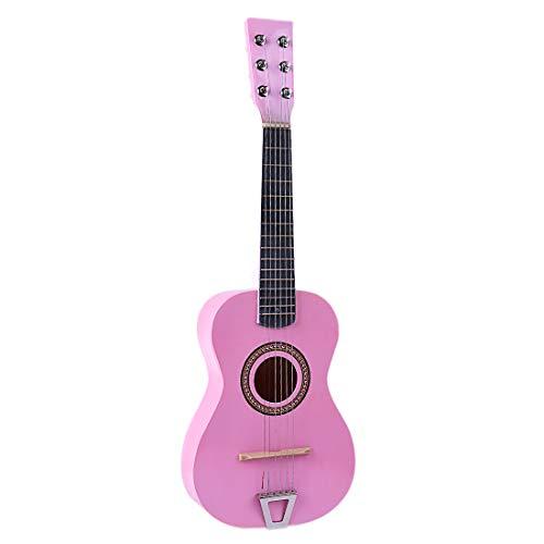 Mayoaoa Gitarre Kinder ab 3 Jahre Holz, Rosa 6-saitige Kindergitarre, Kindergitarre 4 5 6 7 8 9 10 Jahre alt, Gitarre Holz Kinder