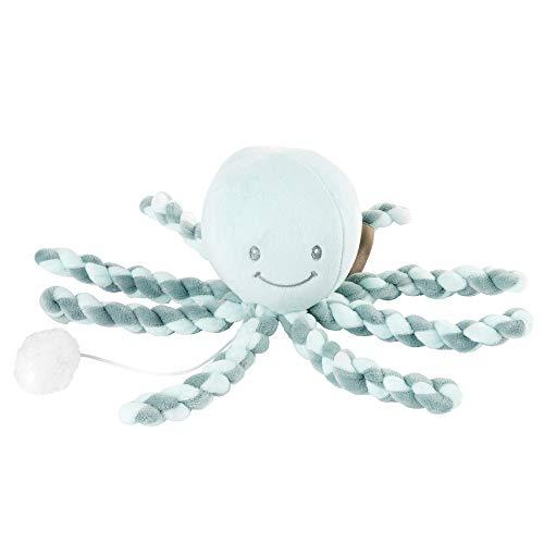 Nattou Spieluhr Oktopus, Wiegelied «La-Le-Lu», Für Neugeborene und Frühchen, 23 cm, Lapidou, Türkis/Mintgrün