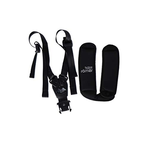 Britax Römer Gurtsystem Fidlock für Römer Jockey mit Schulterpolster, für alle Jockeys, schwarz