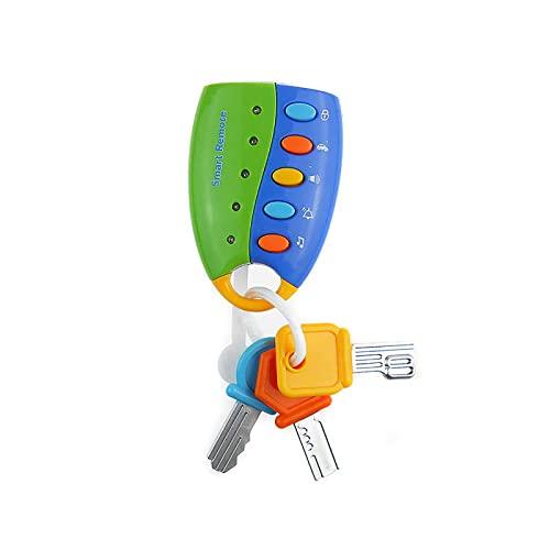 CREACEC Musik Remote Auto Schlüssel,Baby Spielzeug Interactive Frühes Pädagogische Entwicklung Flash Spielzeug Für Kinder Kinder Geburtstag Geschenk Partei Festival Spielzeug Zubehör,Blau
