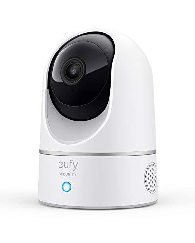 eufy Security Solo IndoorCam P24, 2K Überwachungskamera für Innenbereiche, Schwenk-Neige-Sicherheitskamera, WLAN, Personenerkennung, Nachtsicht, Bewegungssensor, HomeBase nicht kompatibel