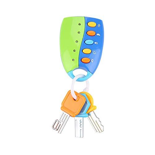 Joyzan Smart Sounds Babyschlüssel, Musikalische Lichter Smart Pretend Remote Key Spielzeug, Autoschlüssel Zubehör Spielset, Kinder Bildung Lernspielzeug Geschenk(Blau)