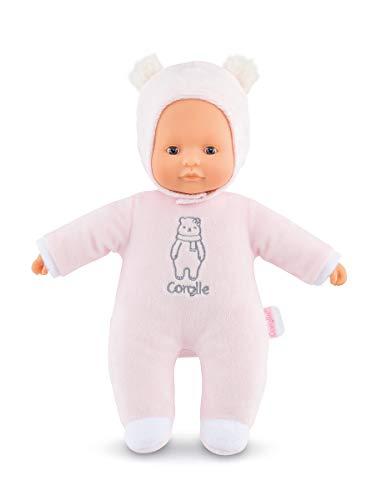 Mon Doudou Corolle Sweetheart / rosa Bär / Weichkörperpuppe mit Kapuze / Namensetikett / Vanilleduft / 30cm / Für Kinder ab 9 Monaten geeignet