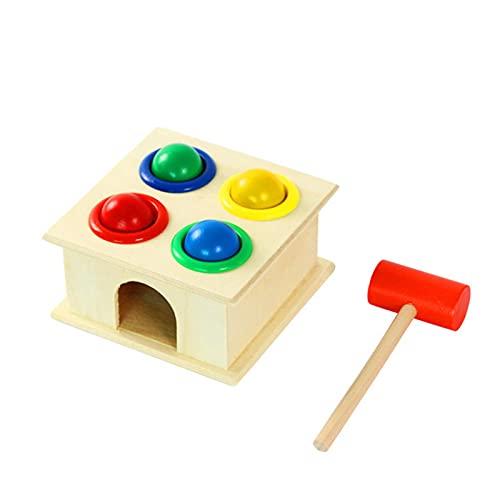 ornithologist Hämmern Spiel Steckwürfel Aus Holz-Würfel Lernspielzeug-Puzzle Steckbox Lernen Von Entwicklungsspielzeug Für 1,2,3 Und Mehr Jahre Alte Jungen- Und Mädchengeschenke