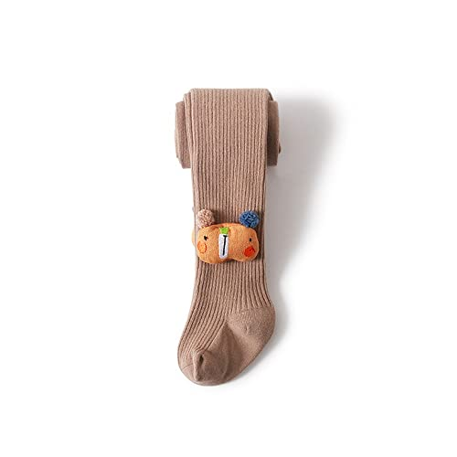 GLBS Frühling Herbst Baby Strumpfhosen Feste Farbe Neugeborene Strumpfhosen Niedliche Puppe Mädchen Leggings Halten Warme Baby Leggings for Alter 0-12 Jahre (Color : Khaki, Size : S)