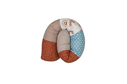 ULLENBOOM ® Baby Bettschlange 120x13 cm Regenbogen (Made in EU) - Nestchenschlange für das Babybett, Bezug: 100% ÖkoTex Baumwolle, Bettrolle zur Bettumrandung im Kinderbett, Motiv: Sterne