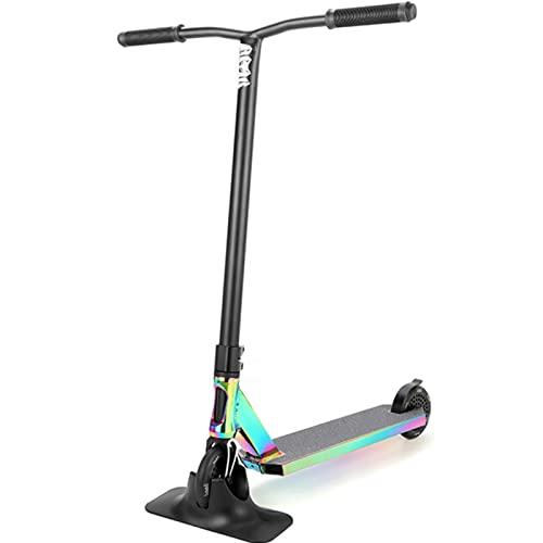 Pro Scooter, LMT36 Stunt Trick Scooter - Perfekt für Senior Fortgeschrittene und Anfänger für Kinder, Jugendliche und Erwachsene - BMX Freestyle Kick Scooter für Jungen und Mädchen,Rainbow/black