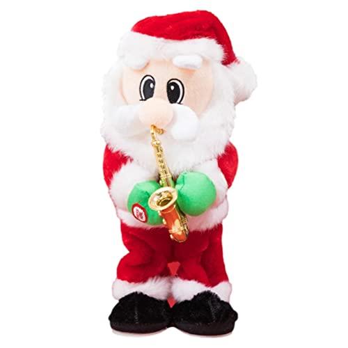 Elektrischer Weihnachtsmann Tanzende Singende Weihnachtsmann Puppe Gedrehtes Weihnachtsweihnachtsmann-Spielzeug, Lustige Weihnachtspuppen Mit Musik, Batteriebetriebene Musikalische Bewegliche Figur