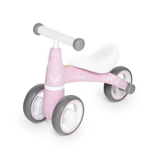 skiddoü Laufrad, Schieber für Kinder, Berit, Fahrrad ohne Pedale, Fahrradfahren lernen, drei 6 EVA-Räder, rutschfester Griff, bequemer Sitz, leichte Konstruktion, rosa, 2 kg