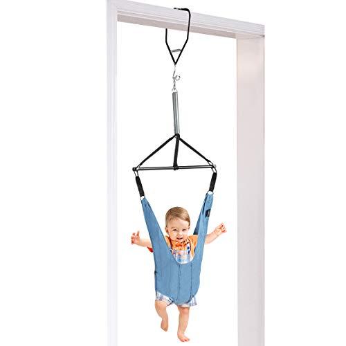 DREAMADE Baby Türhopser, Babyschaukel mit stabiler Türrahmenklemme, Einstellbares Baby Tür Schaukel, Baby Trainingsgerät aus sicherem Stoff und Eisen mit starker Tragfähigkeit für Baby 6-12 Monate