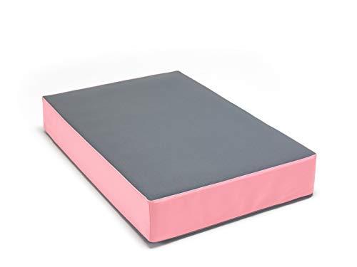 traturio Hüpfmatratze in tollen Farben für alle kleinen Hüpfer 107x70x17 cm Mittelgrau/rosa
