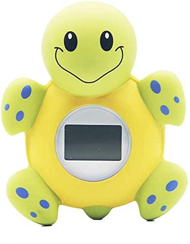 GXT Thermometer Clock Baby Shower Digital Thermometer Badewanne Spielzeug Cartoon Turtle Form mit Fahrenheit Celsius für Säuglinge Bequem und schnell