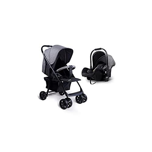 TOKUJN 3-in-1-Kinderwagen, Kinderwagen, faltbar, mit Baby-Autositz, Krippe, Accessoires, Fußabdeckung, geeignet für Neugeborene, von der Geburt bis 3 Jahre alt