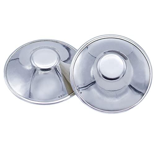 Liia® Silberhütchen Stillen, Stillhütchen aus Silber Trilaminat, Die Perfekte Pflege Für Schmerzende und Empfindliche Brustwarzen, Frei Von Kupfer Nickel