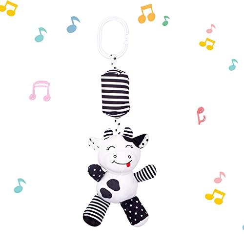 Kinderwagen und Kinderwagen Schwarzweißes sensorisches Spielzeug, geeignet für Neugeborene Babys, Jungen und Mädchen
