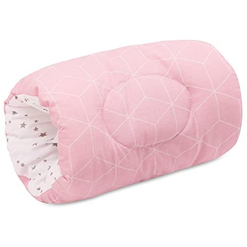 Bellochi Klein Stillkissen Stillmuff - für Unterwegs - 100% Baumwolle - Praktisches Komfortables Arm Kissen - ÖKO-TEX Zertifiziert - 24 x 18 cm - Aurora