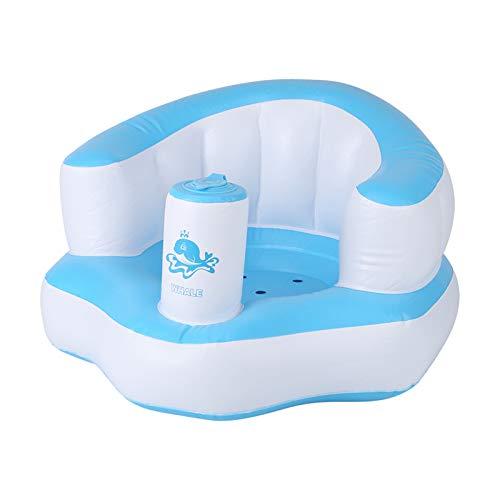 Garosa Aufblasbarer Sessel mit integrierter Pumpe, süsses, tragbares Baby-Spielsofa, wunderbares Geschenk für Kinder blau