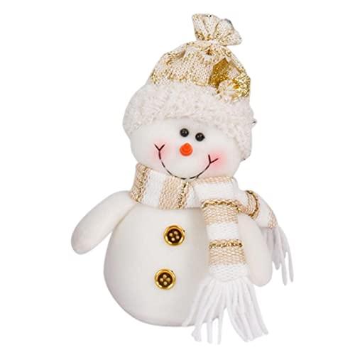 LOVOICE Weihnachtsdekoration Puppe Plüschtier, Weihnachtsmann Schneemann Puppe Party Niedliche Baumschmuck, Home Ornamente