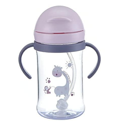 Trinkbecher Für Baby Baby Trinklernflasche - 2 In 1 Trinkbecher - Süße Trinkflasche Mit Strohhalm - Auslaufsichere Trinkschnabel - Kinder Trinkflasche - Trainerbecher Für Kleinkinder Kinder, 400ml