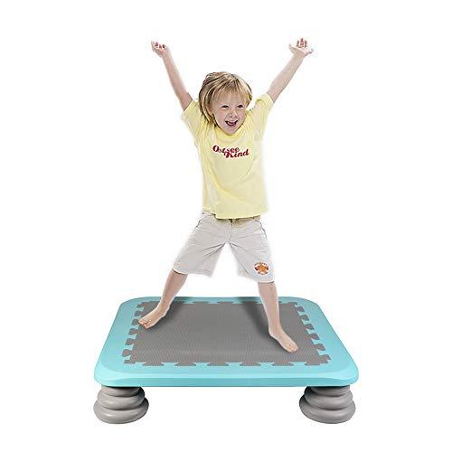 HAPPYMATY Trampolin Indoor Federbrett HüpfmatratzeBalancierspiel Kindertrampolin Gymnastik Board Springmatte Zusammenklappbar Fitness Matratze