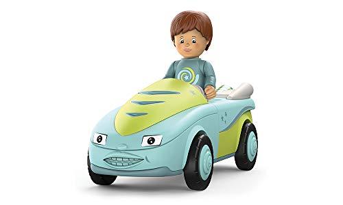 Toddys by siku 0101, Freddy Fluxy, 2-teiliges Spielzeugauto, Zusammensteckbar, Inkl. beweglicher Spielfigur, Hochwertiger Schwungradmotor, Türkis/Grün, Ab 18 Monaten