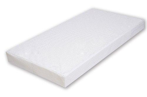 Best For Kids COMFORT Matratze Maxi - 60 x 120 x 10 cm - nachhaltig - lässt sich einrollen - auf Schadstoffe geprüft - Qualitätssiegel - TÜV zertifiziert - 100% Polycotton - waschbarer Bezug