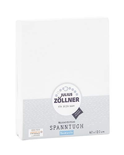 Julius Zöllner 5510020000 - Wasserdichtes Spannbetttuch, 60 x 120 cm