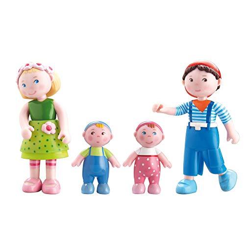 HABA 300513 - Little Friends Biegepuppe Mali (Mali + Matze + Babys Marie und Max, 4 Puppen)