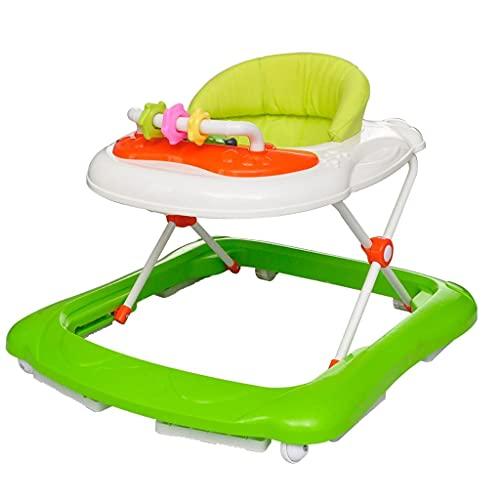 yeacher Babywalker Lauflernhilfe höhenverstellbare Lauflernhilfe mit abnehmbarem Spielzeug, Gehfrei grün