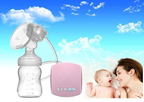 MISS BABY Brustpumpen Baby Natur Komfort Einzel Elektrische Milchpumpe - Rosa Transparent 150ml, Saugen Position Ruhig, Hohe Temperatur, Leicht Zu Reinigen