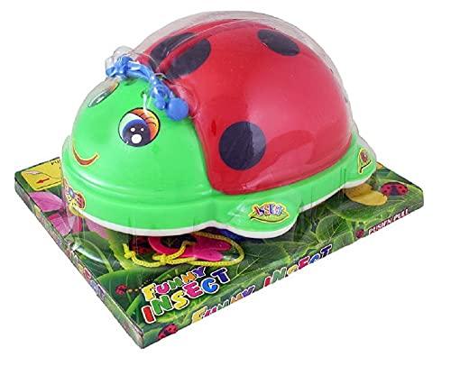 Rappa 230415 Nachziehspielzeug Marienkäfer für Kinder ab 12 Monaten