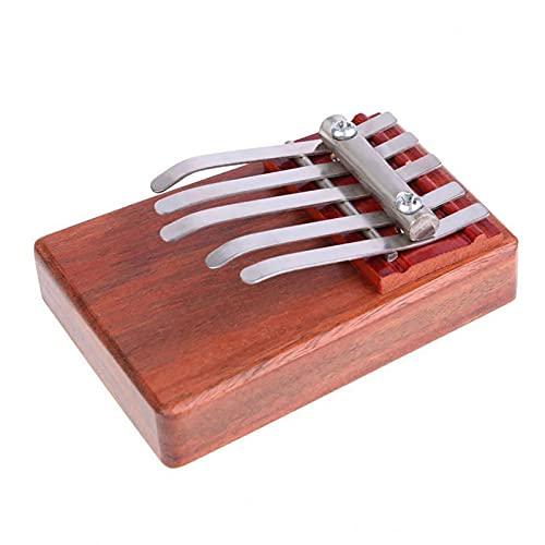 Mini 5-Tasten Kalimba,Tragbares Mbira Finger Piano, Mahagoni Daumenklavier Für Kinder Erwachsene Anfänger