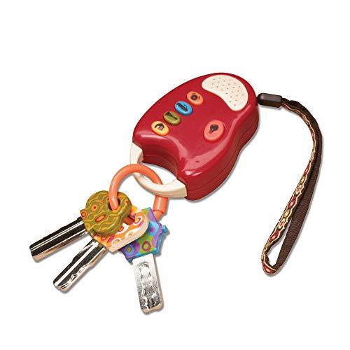 B. toys – Funkeys – Bunte Spielzeugschlüssel für Kinder und Babys – Autoschlüssel Spielzeug mit rotem Licht und Geräuschen – 100% Schadstofffrei