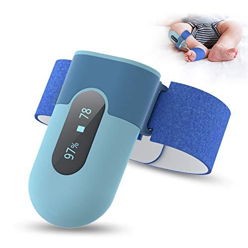 Sensor-Foot zur Atmungsüberwachung bei Babys & Kindern   misst Herzfrequenz, Sauerstoffsättigung, Schlafdauer   per Bluetooth auf iOS &Android App PC Software