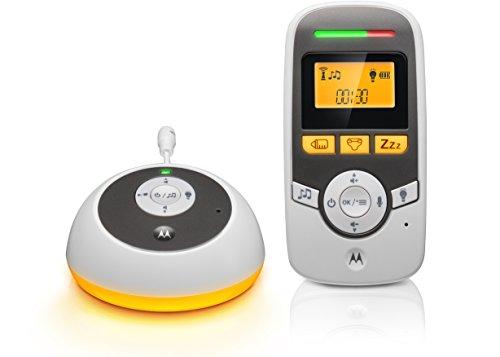Motorola Baby MBP161TIMER - Digitales Audio Babyphone mit Display und Baby Care Timer - Weiß