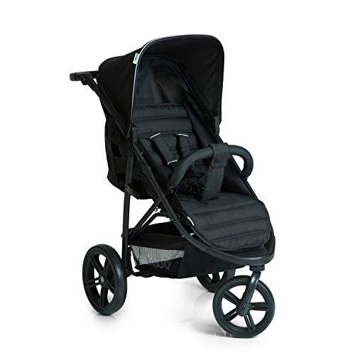 Hauck Dreirad Buggy Rapid 3 / für Babys und Kinder ab Geburt / Belastbar bis 25 kg / Schnell Faltbar / Höhenverstellbar / mit Liegeposition / Große Räder / Einkaufskorb / Schwarz