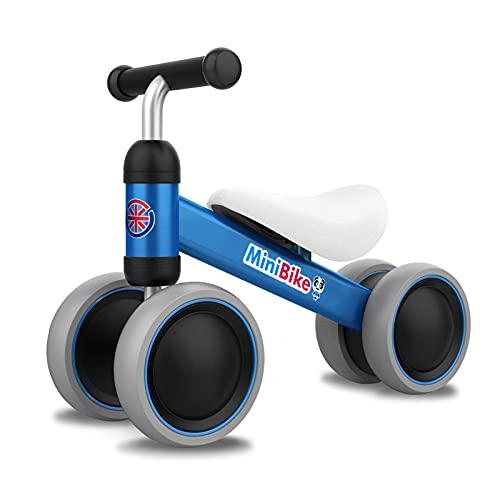 YGJT Kinder Laufrad ab 1 Jahr   Fahrrad Spielzeug für 10 - 24 Monate Junglen und Mädchen   Rutschrad Baby Geschenk für Ersten Geburtstag Neu Jahr (Blau)