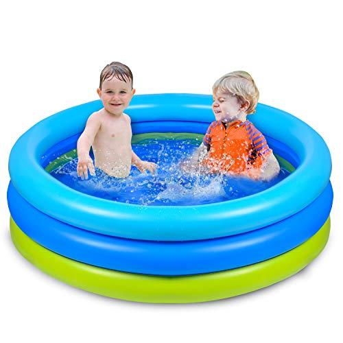 Joyjoz Planschbecken Kinder Aufblasbares Pool 120x 30 cm Schwimmbecken Kinderpool Babypool für Garten und Outdoor