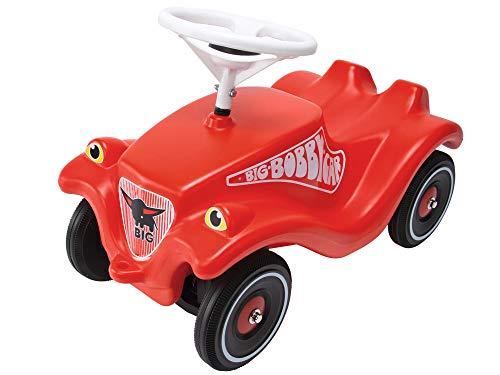 BIG Spielwarenfabrik 800001303 BIG-Bobby-Car Classic - Kinderfahrzeug für Jungen und Mädchen, klassisches Rutschfahrzeug belastbar bis 50 kg, für Kinder ab 1 Jahr, rot