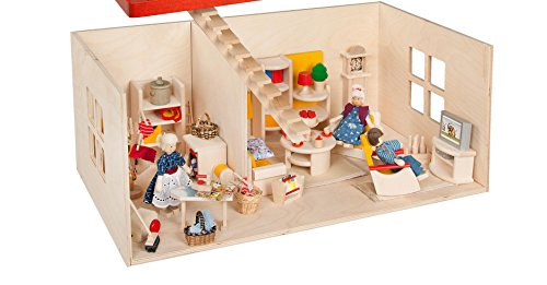 Rülke Holzspielzeug 23211 Puppenhaus, holzfarben