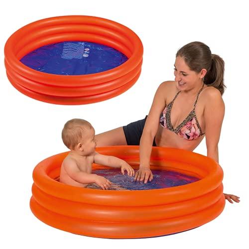 Smart Planet® Baby Pool - Mini Kinder Planschbecken 100 cm Kleiner Pool zum Baden für Babys und Kleinkinder - Aufblasbarer Swimmingpool zum Planschen