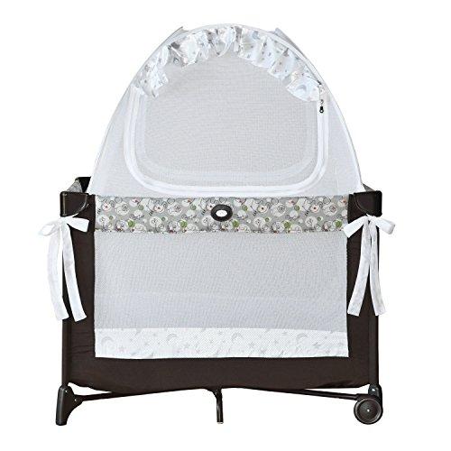 Pro Baby Safety Baby Pack N Play und Mini Crib Safety Pop-up-Zelt: Premium Bed Canopy Netzabdeckung - Durchsichtiges Mesh Top Nursery Moskitonetz - Robustes Kinderzelt