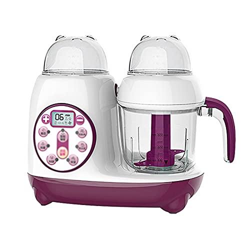 Babynahrungszubereiter Babynahrung Ergänzungsmaschine Kochen Und Mischen Babykochungsmaschine Multifunktionsautomatisches Schleifwerkzeug Einfach zu Verwenden ( Farbe : Purple , Size : 29x16x40cm )