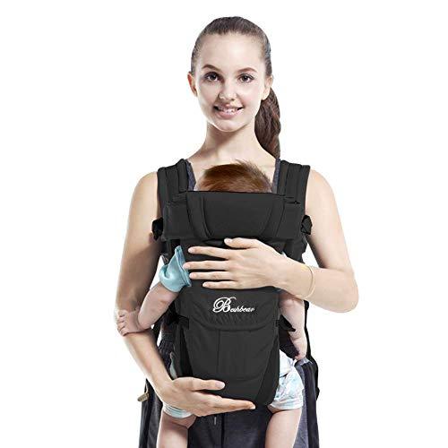 Maydolly Babytrage Babytrage für Neugeborene ab der Geburt bis 24 Monate, 18 kg, Schwarz